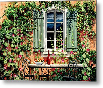 Mediterranean Memories - Oil Metal Print