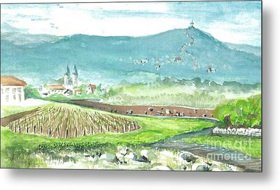 Medjugorje Fields Metal Print by Christina Verdgeline