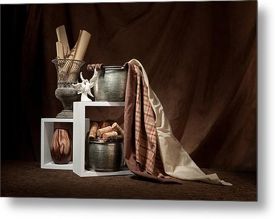 Medley Of Textures Still Life Metal Print by Tom Mc Nemar