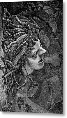 Medusa's Head Metal Print by Collection Abecasis