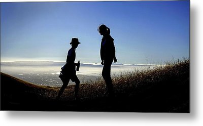 Metal Print featuring the photograph Meet At The Top Of The World by Peter Thoeny