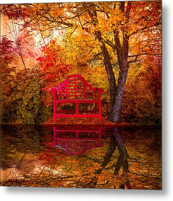Meet Me At The Pond Metal Print