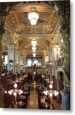Meet Me For Coffee - New York Cafe - Budapest Metal Print by Lucinda Walter