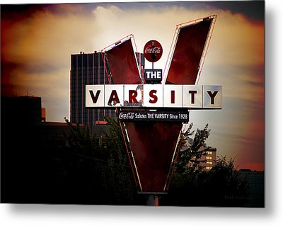 Metal Print featuring the photograph Meeting At The Varsity - Atlanta Icons by Mark E Tisdale