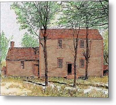 Meeting House Of The Quakers Metal Print by Prisma Archivo