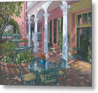 Meeting Street Inn Charleston Metal Print by Richard Harpum