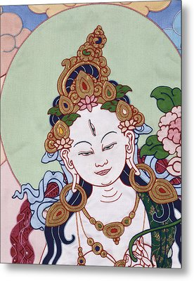Meeting White Tara Metal Print by Leslie Rinchen-Wongmo