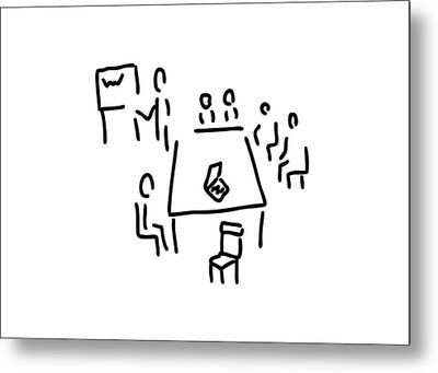 Meeting With Presentation Occupation Metal Print by Lineamentum