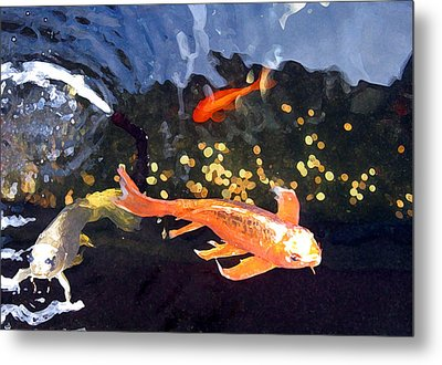 Meetings On The Riverbank Metal Print by Patricia Januszkiewicz