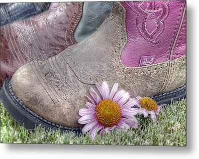 Megaboots Metal Print by Joan Carroll