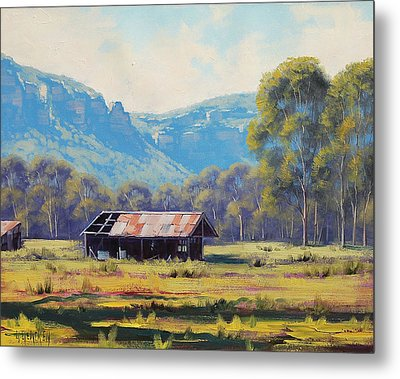 Megalong Valley Shed Metal Print by Graham Gercken