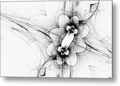 Metal Print featuring the digital art Meiosis by Arlene Sundby