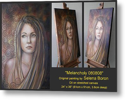 Metal Print featuring the painting Melancholy 080808 Comp by Selena Boron