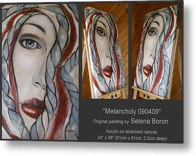 Metal Print featuring the painting Melancholy 090409 by Selena Boron