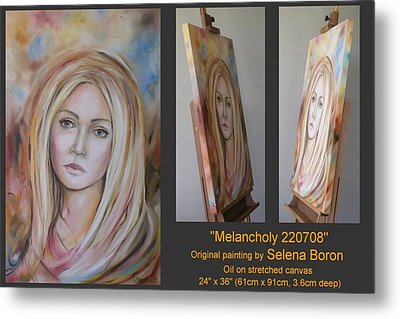 Metal Print featuring the painting Melancholy 220708 by Selena Boron