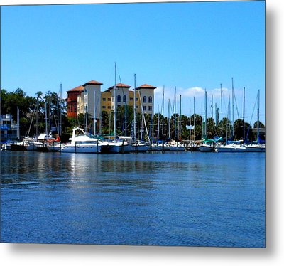 Metal Print featuring the photograph Melbourne Harbor by Kay Gilley
