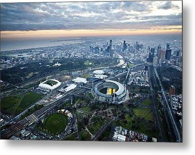 Melbourne Park, Melbourne Metal Print by Brett Price