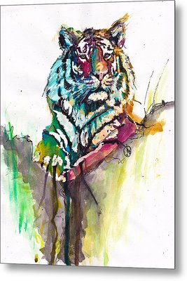 Mellow Kitty Metal Print by Howard Barry