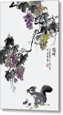 Metal Print featuring the painting Melody Of Life II by Yufeng Wang