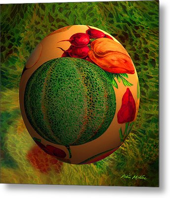 Melon Ball  Metal Print by Robin Moline