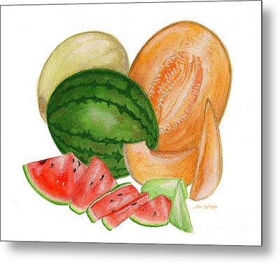 Metal Print featuring the painting Melons  by Nan Wright