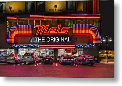 Mels Diner Metal Print by Gary Warnimont
