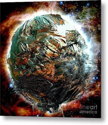 Melting Planet Metal Print by Bernard MICHEL