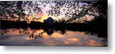 Memorial At The Waterfront, Jefferson Metal Print by Panoramic Images