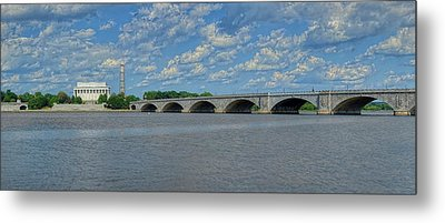 Memorial Bridge After The Storm Metal Print by Metro DC Photography