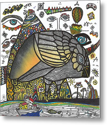Memories Of A Bird Without A Voice Metal Print by Branko Jovanovic