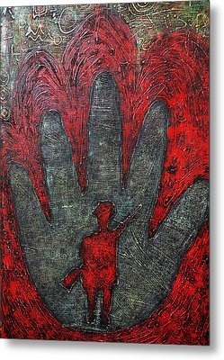 Memories Of A Child Soldier  Metal Print by Ronex Ahimbisibwe
