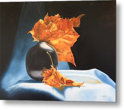 Memories Of Fall - Oil Painting Metal Print