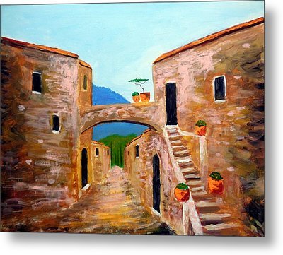 memories of Montalcino Metal Print by Larry Cirigliano