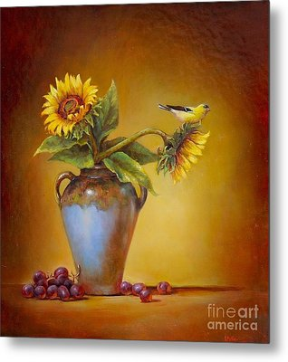 Memories Of Summer Metal Print by Lori  McNee