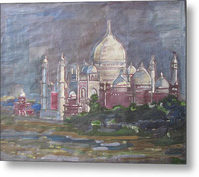 Memories Of The Taj Metal Print by Vikram Singh