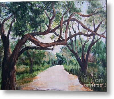 Metal Print featuring the painting Memory Lane by Mary Lynne Powers