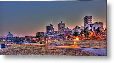 Cityscape - Skyline - Memphis At Dawn Metal Print by Barry Jones