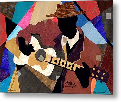 Memphis Blues Metal Print by Everett Spruill