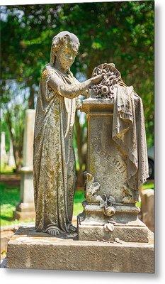 Memphis Elmwood Cemetery Monument - Cassie Hill Metal Print by Jon Woodhams