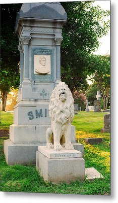 Memphis Elmwood Cemetery - Guarding Jasper Metal Print by Jon Woodhams