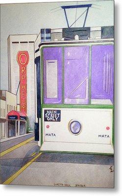 Memphis Trolley Metal Print by Loretta Nash
