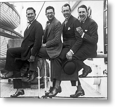 Men Arriving From Europe Metal Print by Underwood Archives