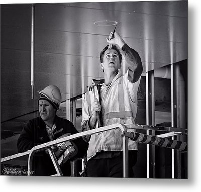 Metal Print featuring the photograph Men At Work by Wallaroo Images