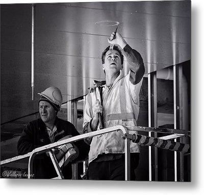 Men At Work Metal Print by Wallaroo Images