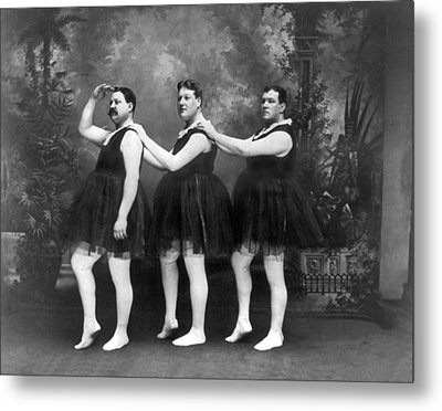 Men In Tights And Tutus Metal Print by -