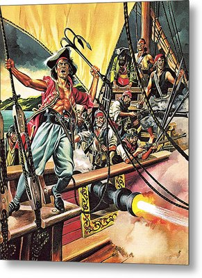 Men Of The Jolly Roger Metal Print by Ron Embleton