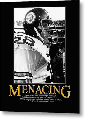 Menacing Jack Lambert Metal Print by Retro Images Archive