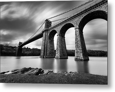 Menai Suspension Bridge Metal Print