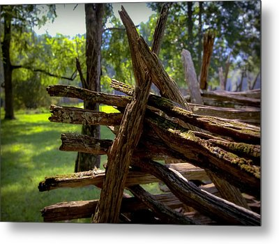 Mending Fences Metal Print by Karen Wiles