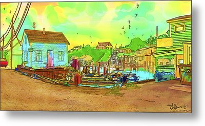 Menemsha Harbor Metal Print by Gerry Robins